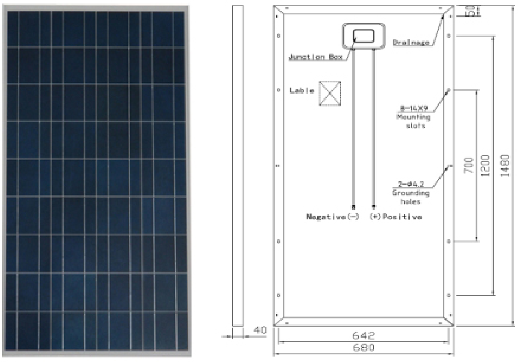 royalstar P36 distributed grid connected photovoltaic system