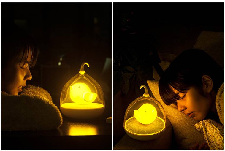 Fascinating Birdcage Design Small LED Touch Light USB Rechargable Baby Night Lamp