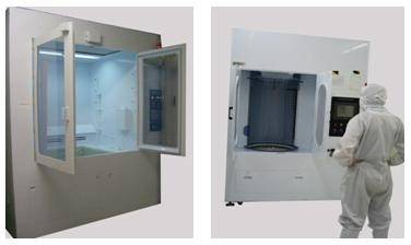 Vertical quartz cover cleaning equipment
