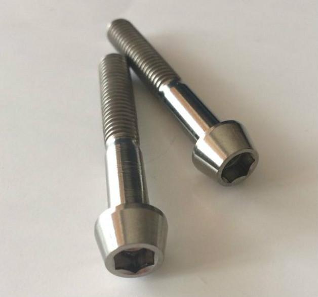Titanium Alloy Bolts 6al4V Grade5 Hexagon Socket Tapered Head Cap Screws