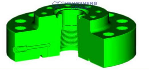 API 6A tubing head adapter/wellhead flange/ tubing flange for wellhead and christmas tree connection