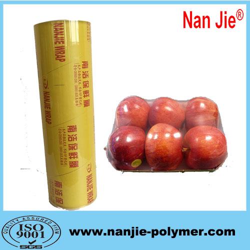Nan Jie transparent jumbo rolls pvc wrap film for wholesale