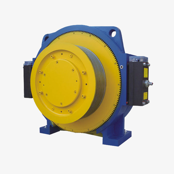 Elevator Spare Parts Traction Machine with gearless elevator technology
