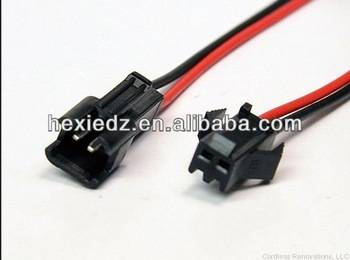 Flexible JST Connector 2 Pin Led Strip Lamp Snap-in Male/Female Header Connecter