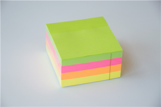 3 inches Fluorescence stacking sticky notes