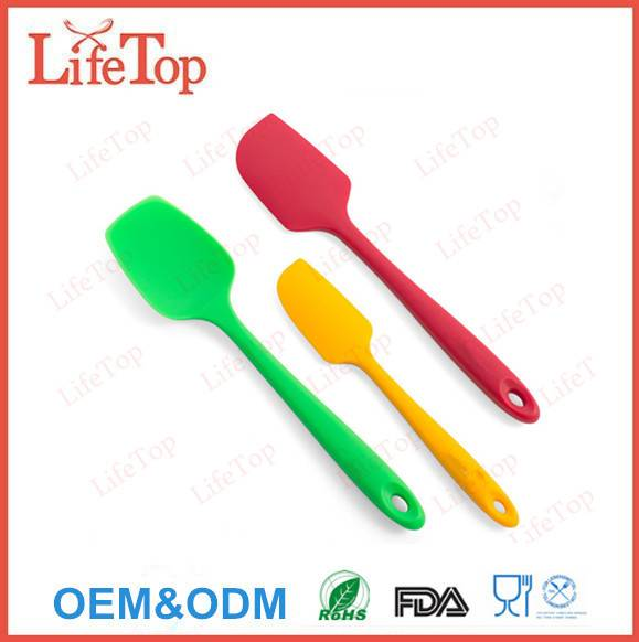 High quality 3 Piece black Silicone Spatula Set