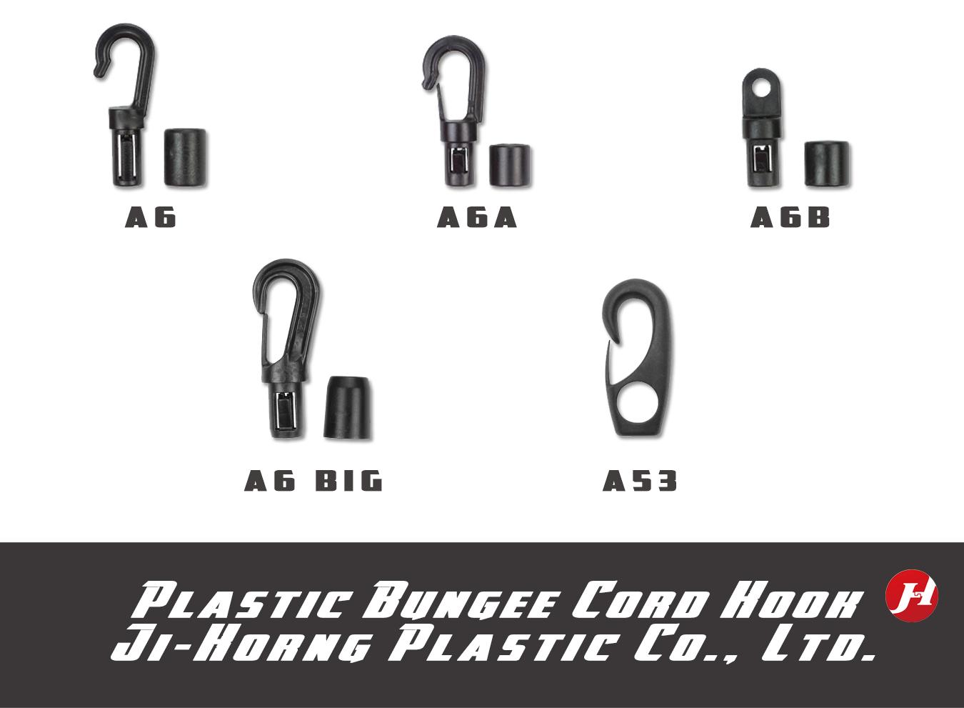 Plastic Bungee Shock Cord Elastic Rope Lanyard Hook Buckle