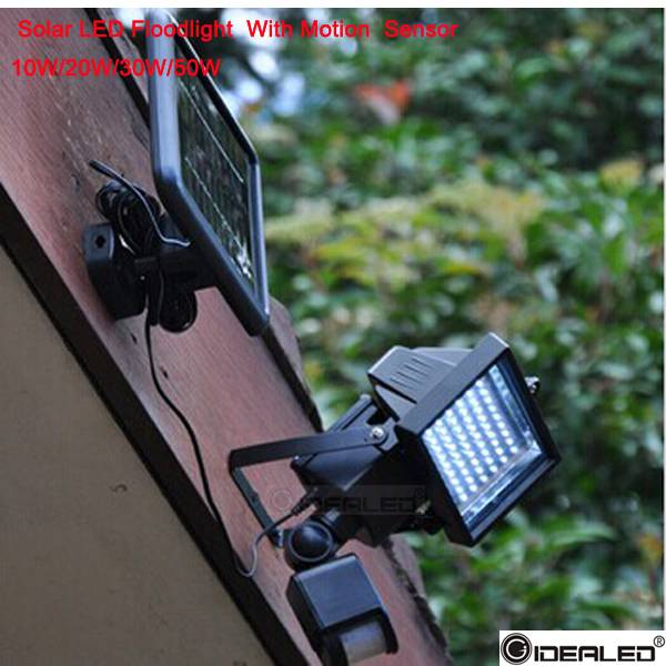 10w solar flood light with motion light