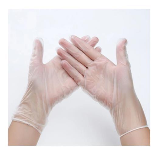 Vinyl-Handschuhe gloves = PVC