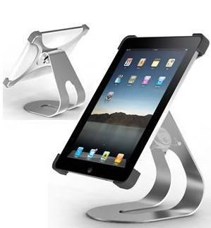 metal desktop holder rotating stand for apple ipad