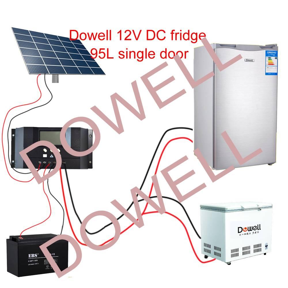 95L DC power solar refrigerator