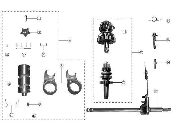 motorcycle mainshaft
