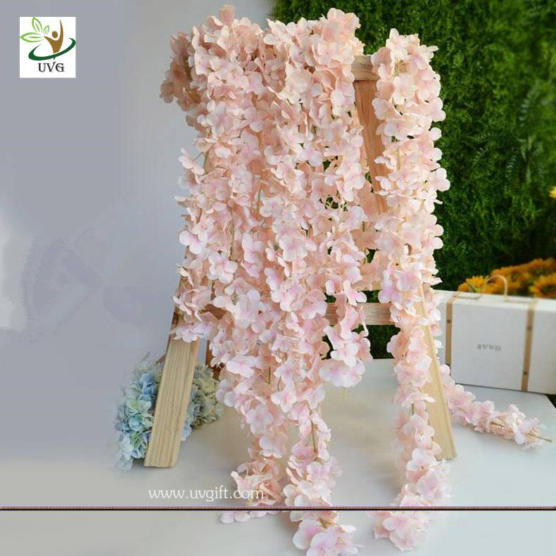UVG WIS009 2m long romantic classic silk flowers artificial wisteria garland for wedding decor