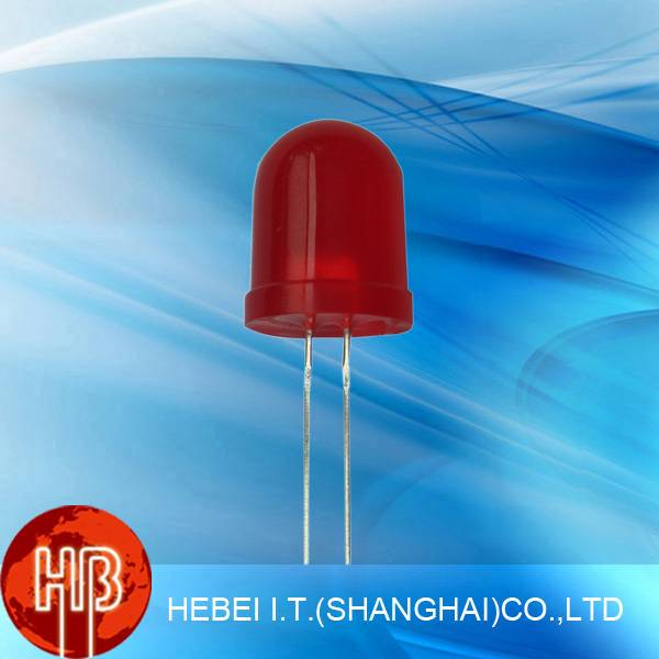 Red Round 10mm Diode Diffused Led 105MR2D