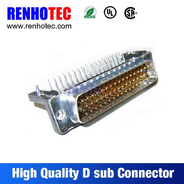 China Supplier Solder 90 Degree Male 47 Gold Pin D-Sub Connector