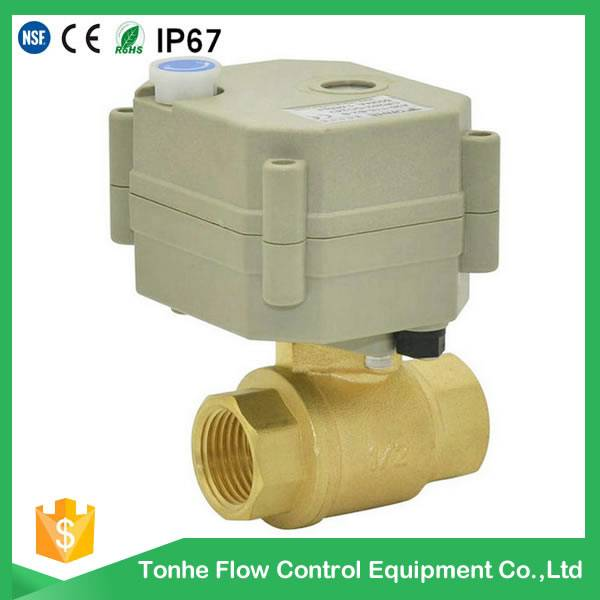OEM ODM DN15 electric motor brass ball valve types (T15-B2)