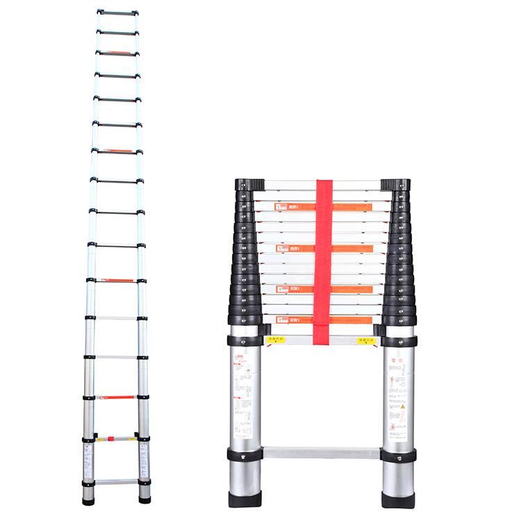 telescopic aluminum folding ladder 4.7m 15.4feet one time folding