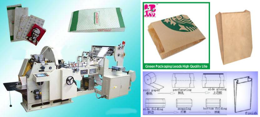 Food paper bag making machine/V-bottom paper bag making machine/Kraft bags making machine