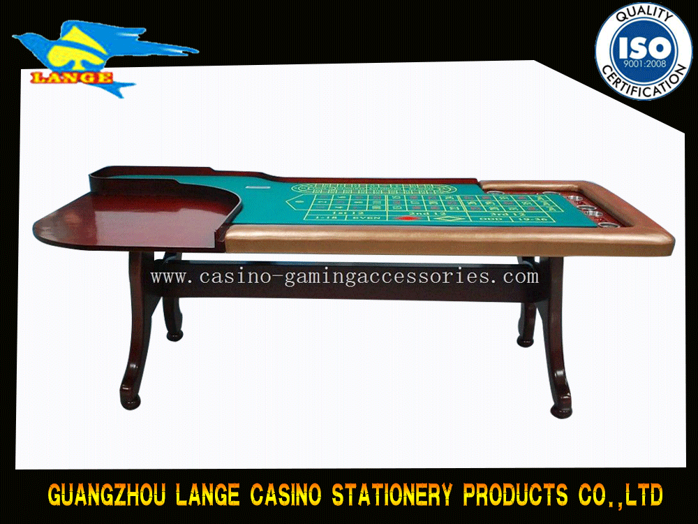 Russian Roulette Table With LCD Screen , Blue Table Felt Red Wooden Leg