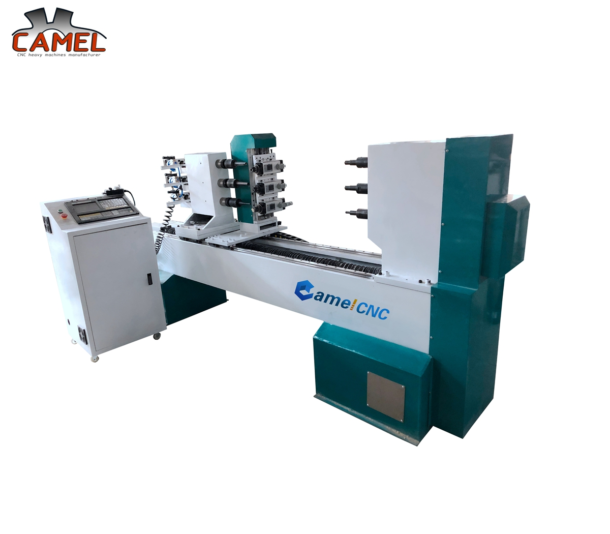 CAMEL CNC factory CA-1512 three axes wooden chair legs stairs cnc turning broaching engraving lathe