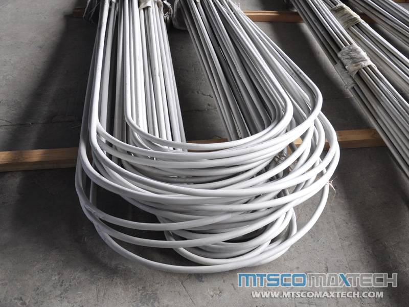 STAINLESS STEEL U BEND TUBE EN10216-5 TC2 D4 1.24MM, 1.65MM, 2.11MM