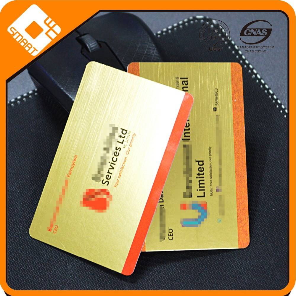 Plastic gold card , PVC Brush Membership card