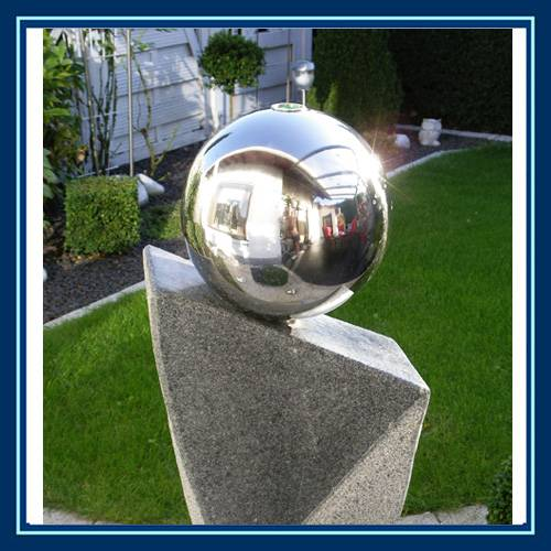 500mm stainless steel orbs decoration on water, garden