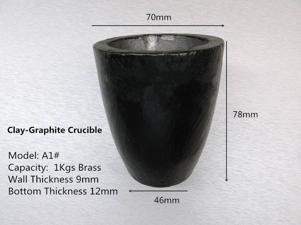 A1# Clay Graphite Crucible for 1kg brass casting 2pcs /Gold Graphite Crucible /Silicon Carbide Furna