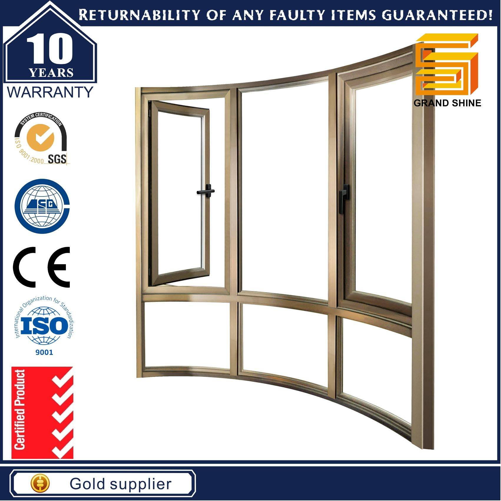 Energy Saving Aluminum Casement Window with Hopo Accessories