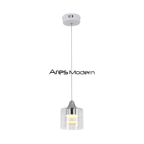 Contemporay led pendant light glass single 5W/15W/25W