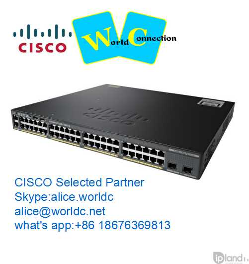 WS-C2960S-48LPD-L 48 port Cisco Ethernet Fiber Switch