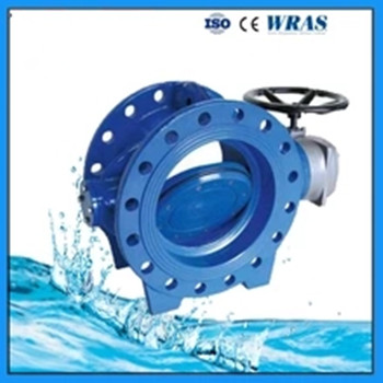 EPDM Soft Seat Seal Flange Ductile Iron GGG50 Double Eccentric Butterfly Valve