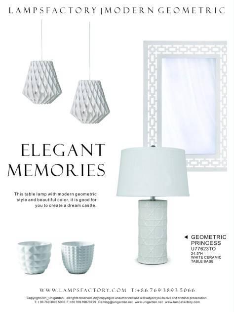 "24.5""H white ceramic table lamp"