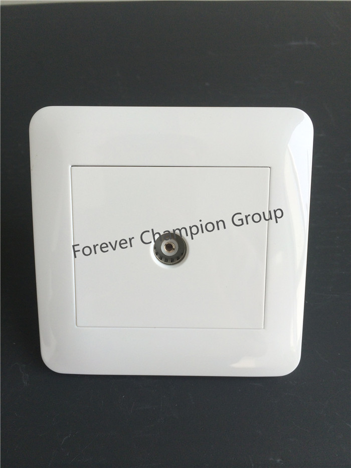 High Quality PC White Panel TV Wall Socket, TV Socket Outlet