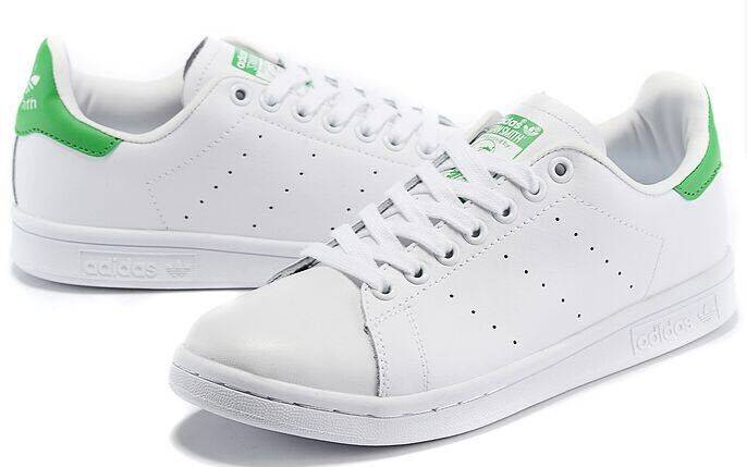 stan smith green heel shoes