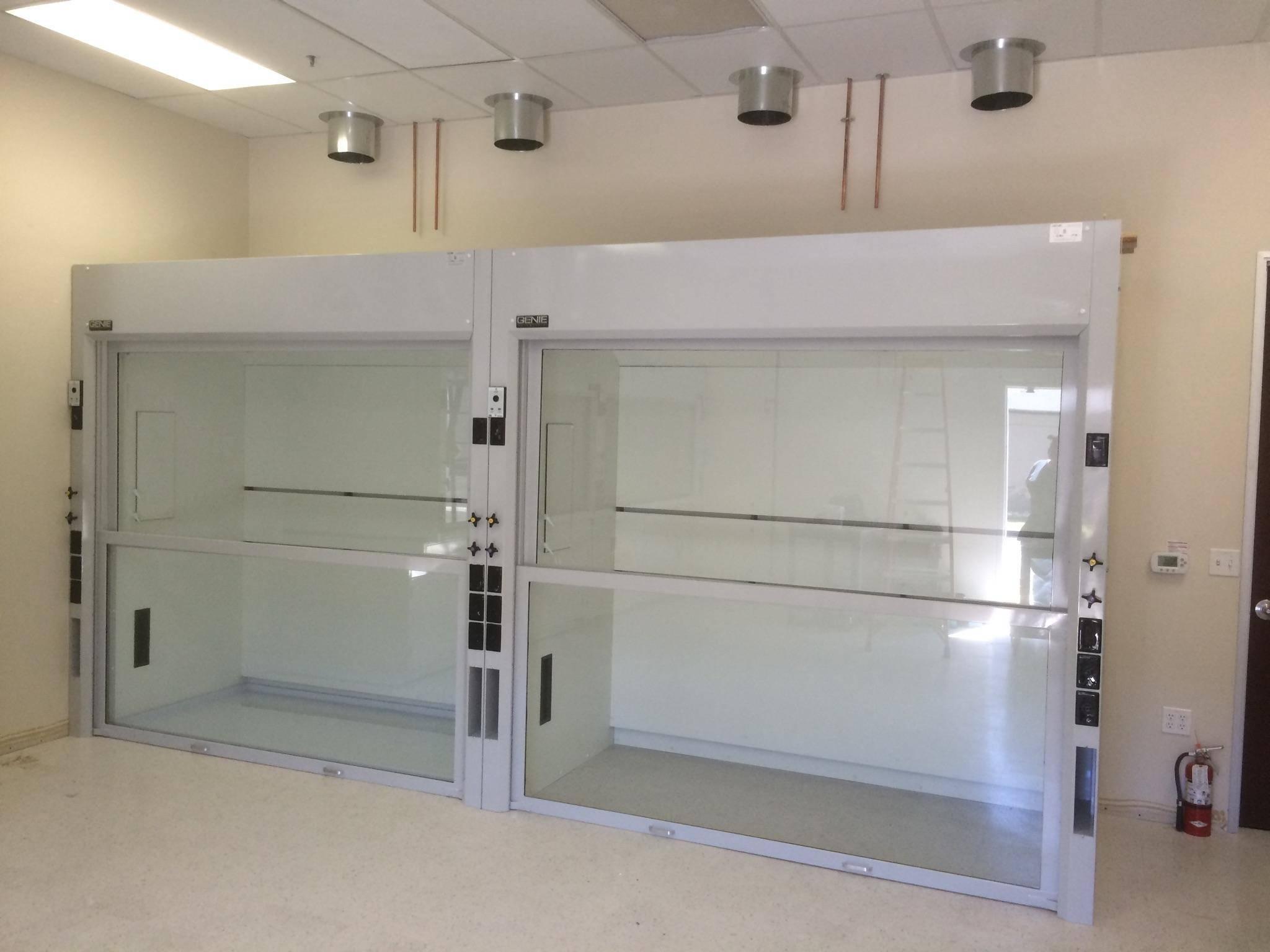laboratory walk in fume hoods for big equipment