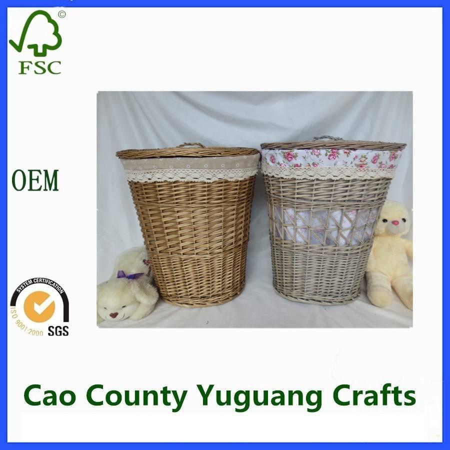 Wicker Storage Willow Laundry Baskets
