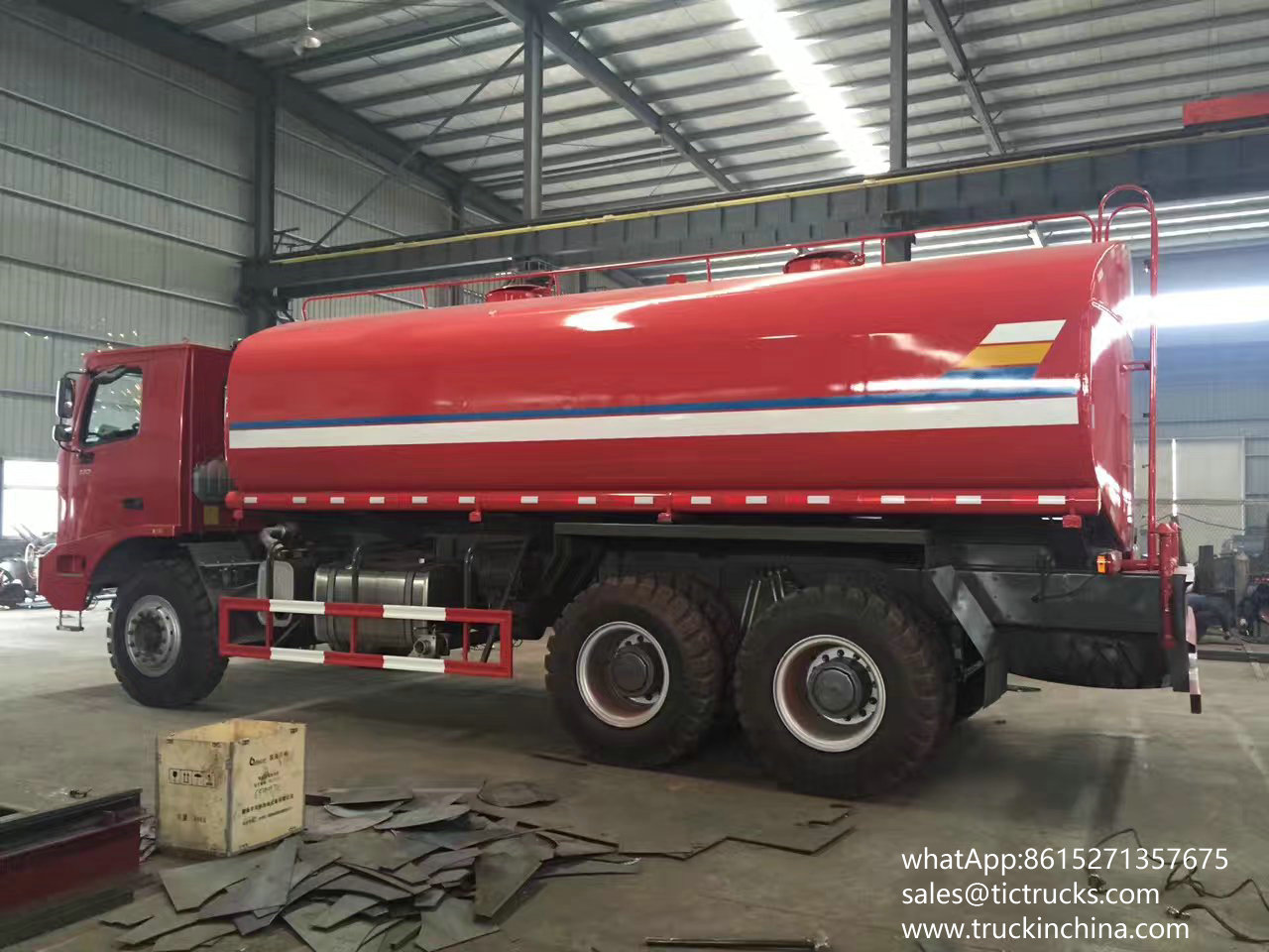 Sino truck Mine 40000L Water tank Truck with water pump cannon 60L/s watering cart
