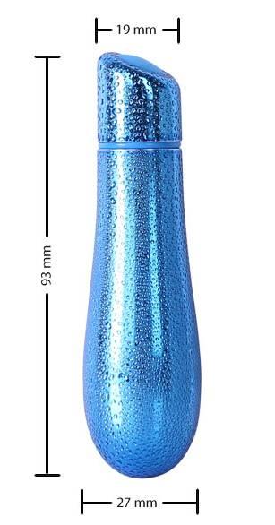 Rain(5214-3) 3 Inch - 7 Function Textured Bullet Vibe - Blue