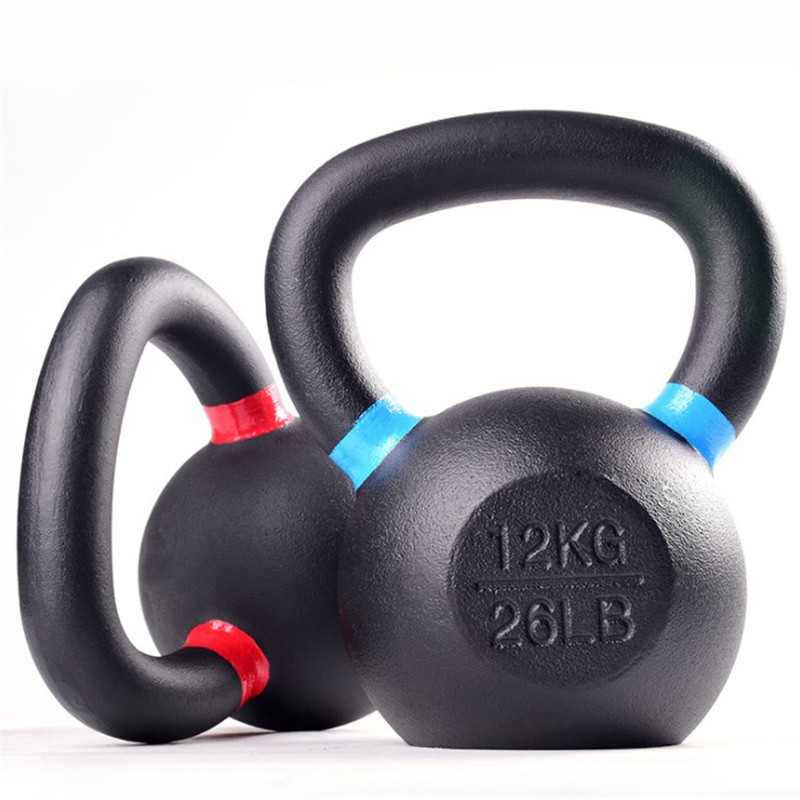 Cast Iron Power Coated Kettlebell -LB and KG Marking