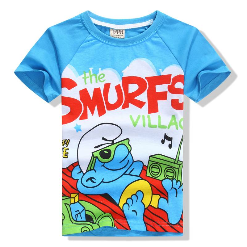 wholesale factory direct salling summer duck kids cotton cartoon short t shirt 2014 new style