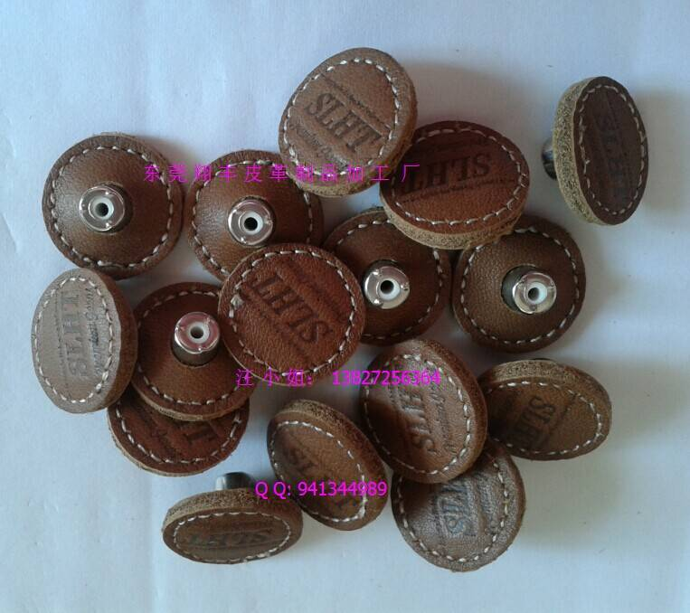 Leather buttons,leather buckle, pig nose buckle, leather h clasp, day word buckle
