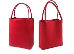 Fashiong Shopping Bag in Red