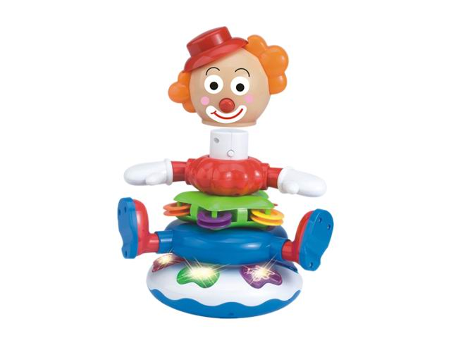 Electronic musical toys clown with animal sounds baby toys
