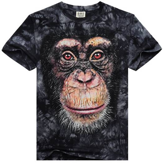 2015 mens hot sale fashion all animal 3D print t shirt short sleeve T shirts wholesale ningbo