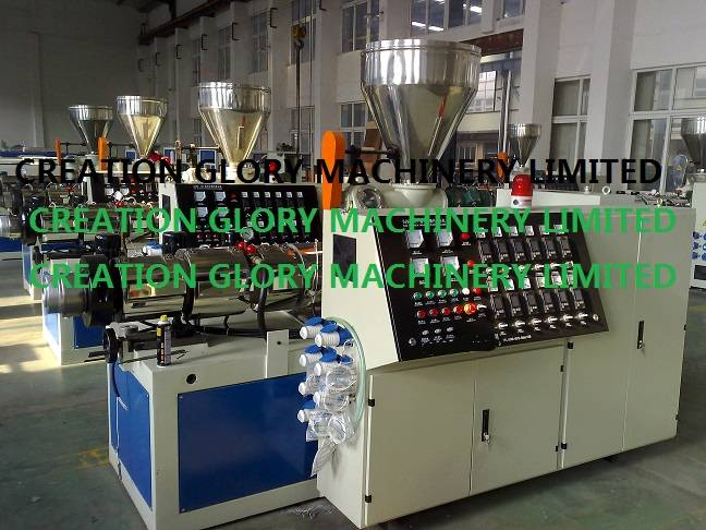 High quality conical twin screw extruder for extrusion production line