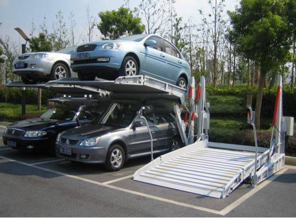 Two Post Tilt Automatic Hydraulic Car Parking Lift with CE