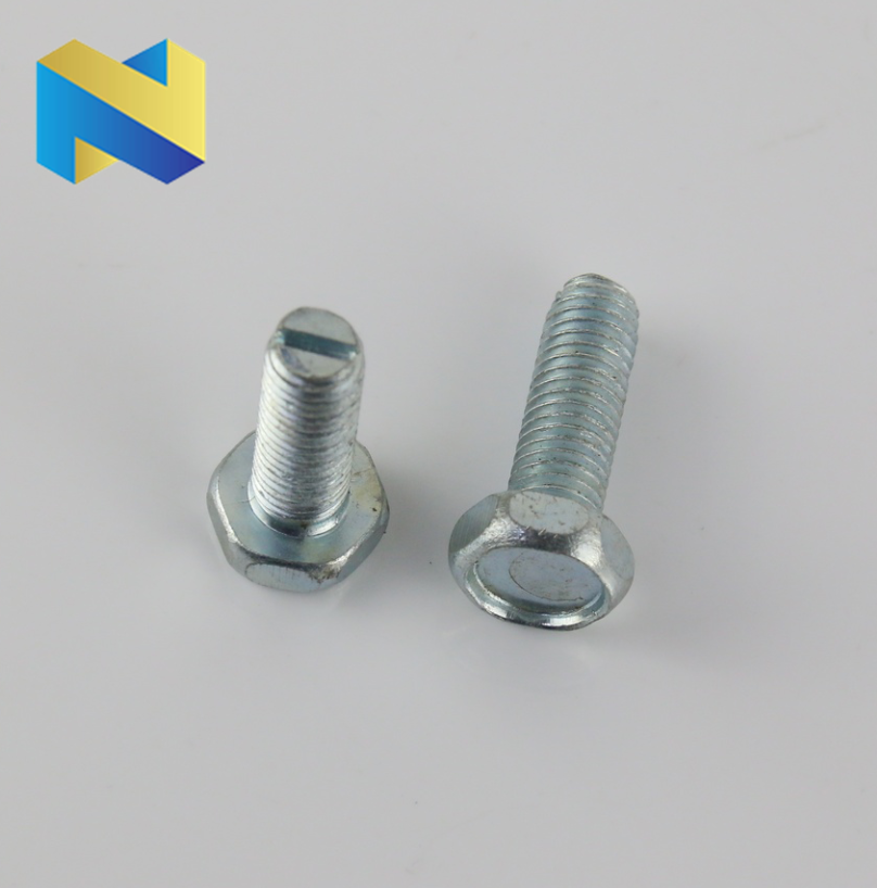 Hex concave head screw machine screw with slotted bottom