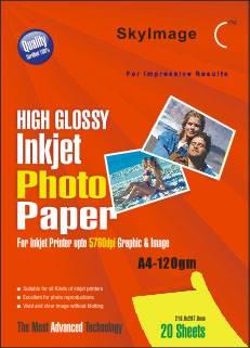 120g Inkjet High Glossy Photo Paper