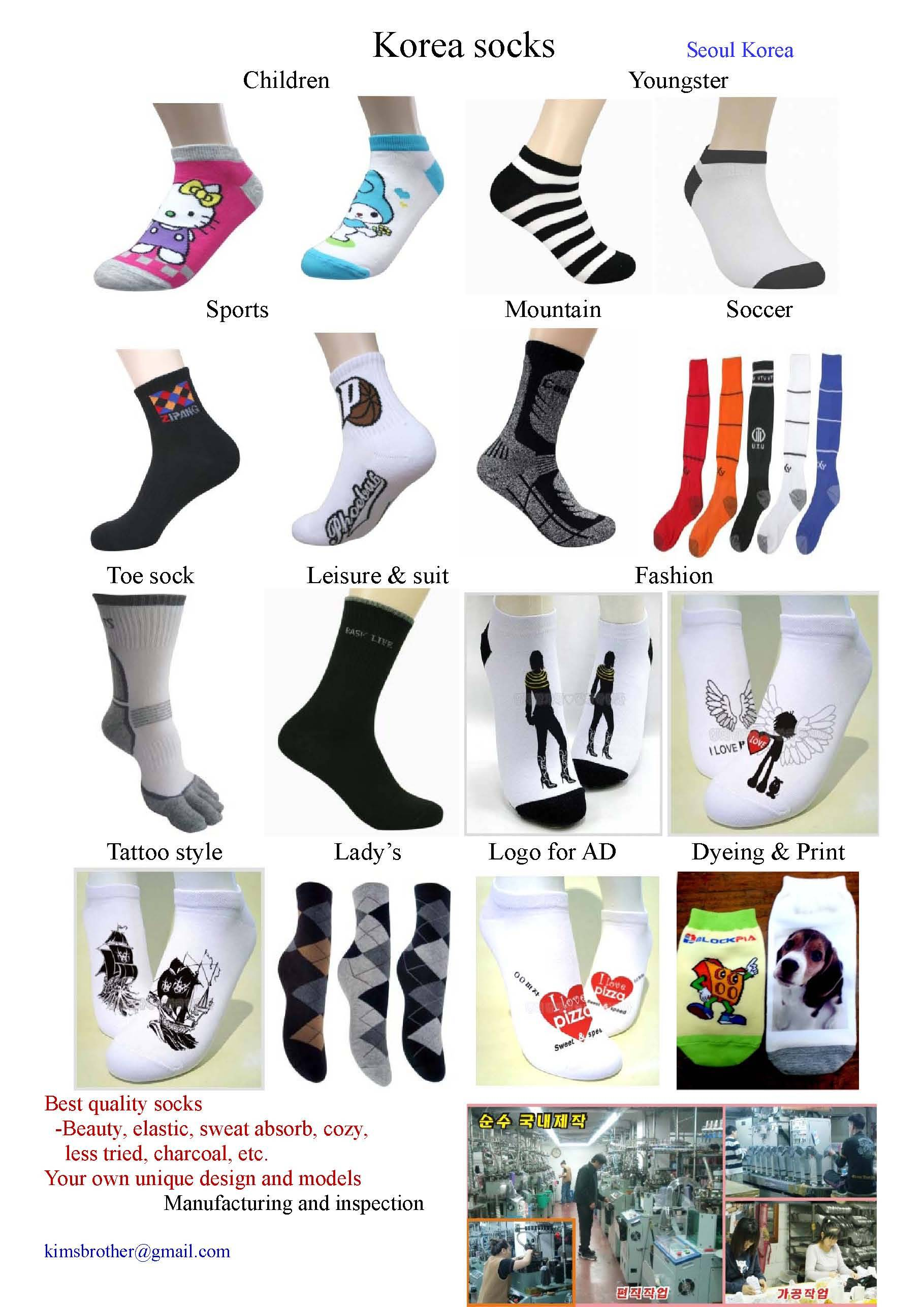 Korea fashion sock